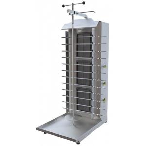 Шаурма ATESY 415х600х1245 3 горелки 12 шампуров газовая