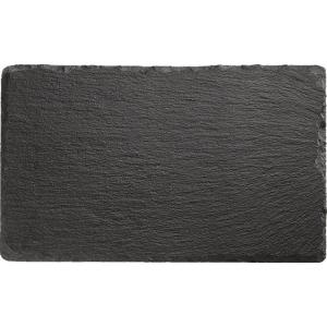 Блюдо для подачи прямоуг. 24*15 см. h=0,5 см. черное, сланец APS