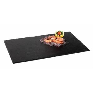 Блюдо для подачи прямоуг. 53*32,5 см. h=5-8 мм. (GN1/1)  черное, сланец APS