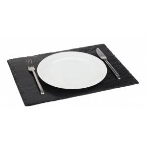 Блюдо для подачи прямоуг. 45*30 см. h=4-7 мм. черное, сланец APS