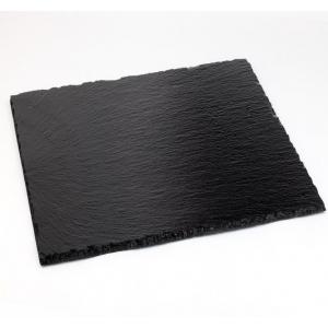 Блюдо для подачи квадр. 10*10 см. h= 4-7 мм. набор 4 шт. черное, сланец APS