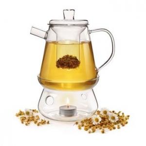 Чайник 1,0 л. термостойк.стекло с подставкой