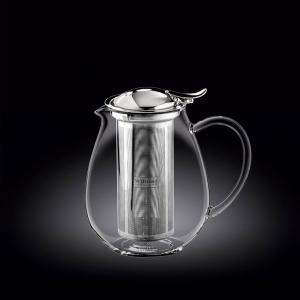 Чайник заварочный 850 мл  с откидной крышкой и колбой нерж. Thermo Glass Wilmax