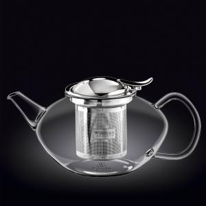 Чайник 1550 мл. заварочный с откидной крышкой и колбой нерж. Thermo Glass Wilmax