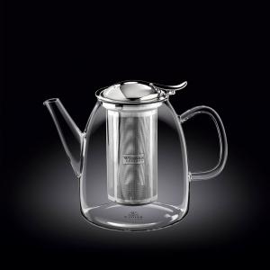 Чайник заварочный 950 мл с откидной крышкой и колбой нерж. Thermo Glass Wilmax