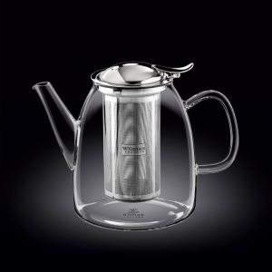 Чайник заварочный 1450 мл с откидной крышкой и колбой нерж. Thermo Glass Wilmax