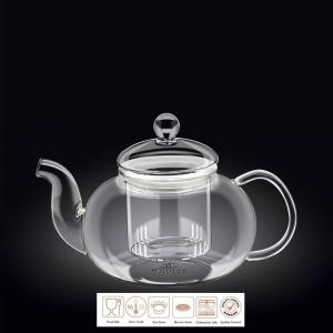 Чайник заварочный 1200 мл. с колбой термо стекло Thermo Glass Wilmax