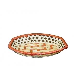 Корзина для хлеба ладья 24х16х5 см. коричн.-белая