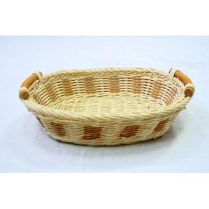 Корзина для хлеба овальная 26х20х5 см. ротанг