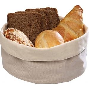 Корзина для хлеба круглая 20х9 см. хлопок, бежевая APS