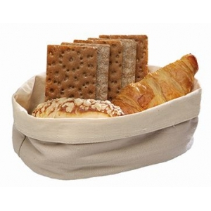 Корзина для хлеба овальная 20х15х7 см. хлопок, бежевая APS