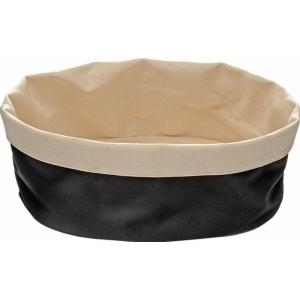Корзина для хлеба овальная 20х15х7 см. хлопок, бежево-черная APS