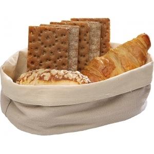 Корзина для хлеба овальная 25х18х9 см. хлопок, бежевая APS