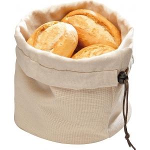 Корзина для хлеба круглая 20х23,5 см. хлопок, бежево-коричн. APS