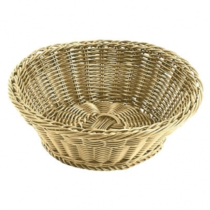 Корзина для хлеба круглая 19х9 см. полиротанг APS