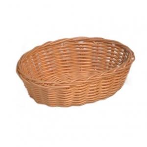 Корзина для хлеба овальная 18х13х5 см. пласт. белая (WB-3018)/12/144/