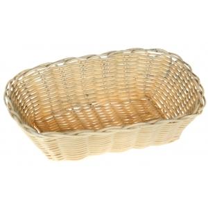 Корзина для хлеба овальная 25х17х6 см. пласт. белая /12/144/