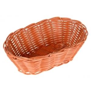 Корзина для хлеба овальная 18х13х5 см. пласт. коричн./12/144/