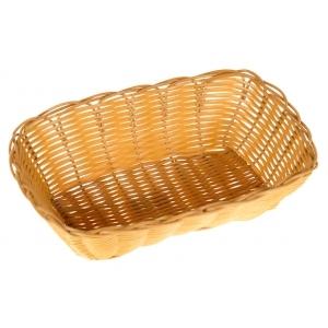 Корзина для хлеба овальная 25х17х6 см. пласт. коричн. (WB-3025BR)/12/144/