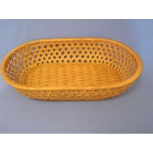 Корзина для хлеба полуовальная 27х18х6 см. коричн.