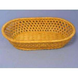 Корзина для хлеба полуовальная 24х15х5 см. коричн.