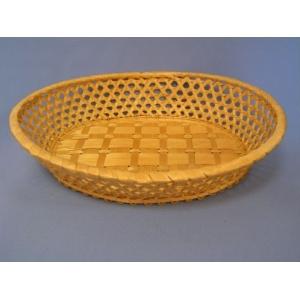 Корзина для хлеба овальная 27х22х5 см. светло-коричн.
