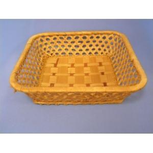 Корзина для хлеба квадрат. 22х22х5 см. корич.