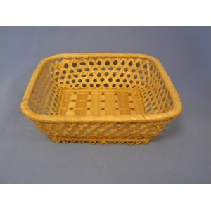 Корзина для хлеба квадрат. 18х18х6 см. корич. (V2A)