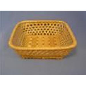 Корзина для хлеба квадрат. 16х16х5 см. корич.