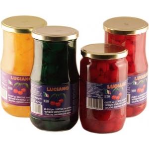 Вишня  красная кокт стекло 0,75 кг. с черенками Италия
