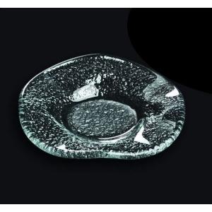 Тарелка d=95 мм. прозр. стекло 3D /60/