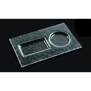 Тарелка 110*260 мм. прозр. стекло 3D /10/ (1126-2212-94-003)