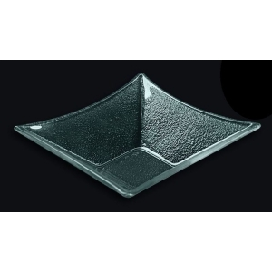 Салатник квадрат l=130*130 мм. прозр. стекло 3D /16/