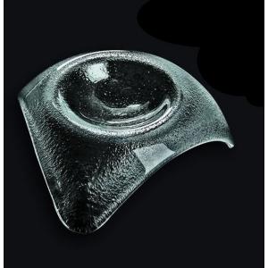 Салатник 120*120 мм. для сервировки прозр. стекло 3D /60/