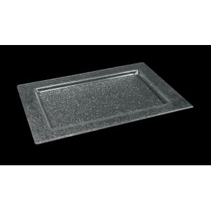 Тарелка 230*300 мм. прозр. стекло 3D