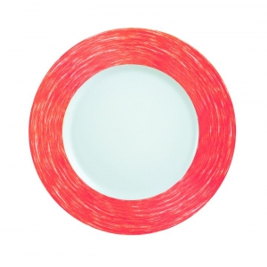 Тарелка d=220 мм. глубокая, красная Color Days /24/