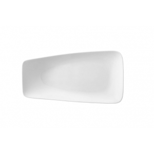 Тарелка прямоуг. 150*85 мм. для закусок, с приподнятым краем Rectangle /12/