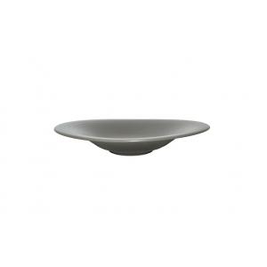 Тарелка d=290 мм. овальная глубокая с широкими полями Артизан Графит /24/