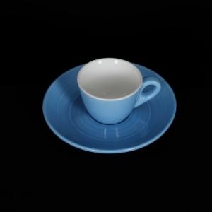 Чашка кофейная 80мл голубая Corone Caffetteria