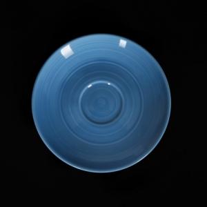 Блюдце к чашке кофейной фк9001 голубое Corone Caffetteria