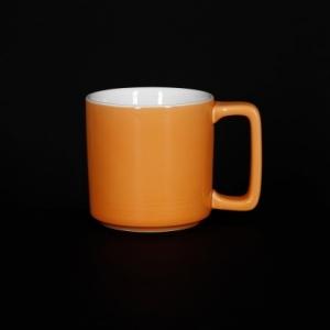 Кружка 200мл оранжевая Corone Caffetteria