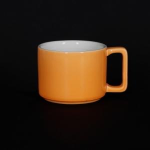 Кружка 290мл оранжевая Corone Caffetteria