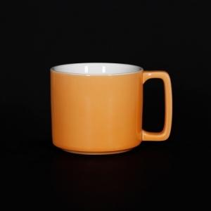 Кружка 360мл оранжевая Corone Caffetteria