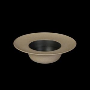 Тарелка для пасты 252 мм бежевая с черным Сorone Rustico