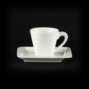 Кофейная пара 80мл 115мм квадратная Sam&Sguito Quadro