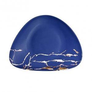 Тарелка мелкая 245*180 мм Blue Gold