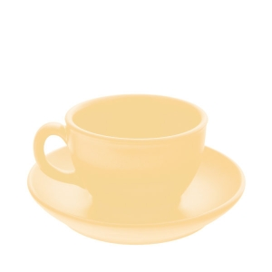Чайная пара керам. 250мл ELGAVA Colour Бежевый