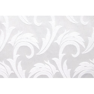 Салфетка 43*43 см. белая перья