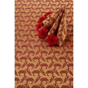 Салфетка 43*43 см. золото-бордо перья