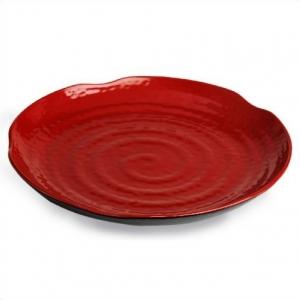 Тарелка круглая d=26,5см.* в.3см  ч/кр*